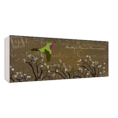 Green Leaf Art Hummungbird Graphic Art; 10'' H x 20'' W x 1.5'' D