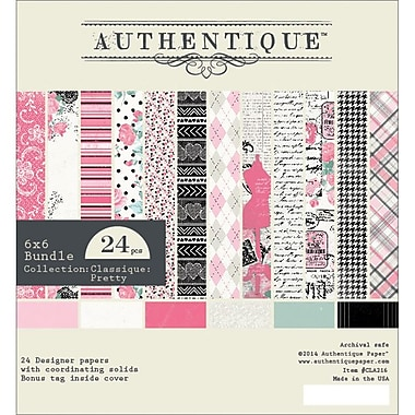Authentique Paper CLA216 Classique Pretty Bundle Cardstock Pad, 6