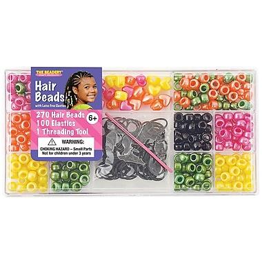 Beadery® Large Hair Bead Kit, Bright Pearl
