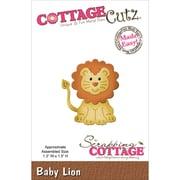 """CottageCutz® 1.3"""" x 1.5"""" Steel Die, Baby Lion"""