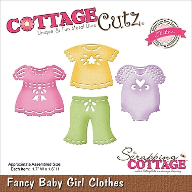 CottageCutz® Elites Steel Die, Baby Girl Clothes