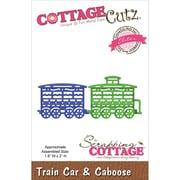 """CottageCutz® 1.8"""" x 2.5"""" Elites Steel Die, Train Car & Caboose"""