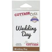 """CottageCutz® Expressions 3.3"""" x 0.8"""" Steel Die, Wedding Day"""