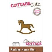 """CottageCutz® 1.5"""" x 1.1"""" Mini Steel Die, Rocking Horse"""