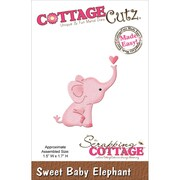 "CottageCutz® 1.5"" x 1.7"" Mini Steel Die, Sweet Baby Elephant"