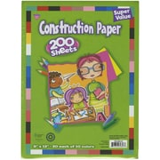 "Darice 9"" x 12"" Construction Paper Pad, Assorted"