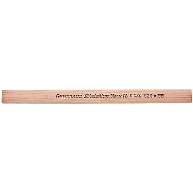 General's Flat Sketching Pencils, #2B Medium Degree