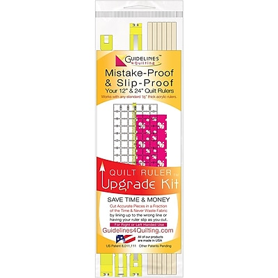 Guidelines4quilting QR-UPKT Multicolor Quilt Ruler, 13.25