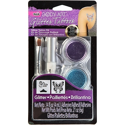I Love To Create® Tulip® Body Art® Glitter Tattoo Kit, Purple