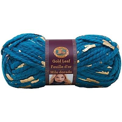 Lion Brand® Gold Leaf® Yarn, Teal/Gold