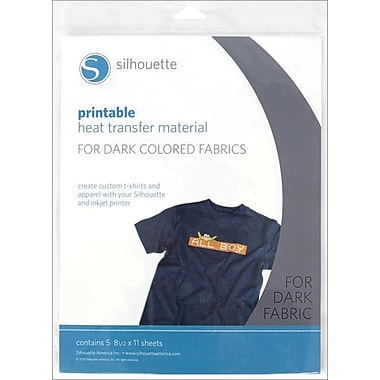 Silhouette PRINTDK Printable Heat Transfer Material for Dark Fabrics, 11