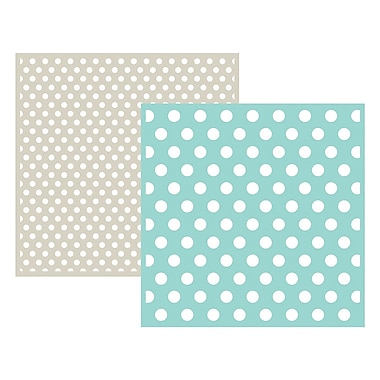We R Memory Keepers LEF6-3709 Goosebumpz Green Polka Dot Embossing Folders, 6