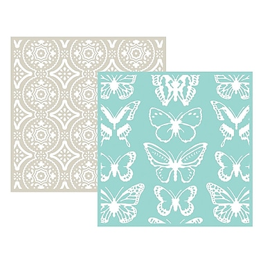 We R Memory Keepers LEF6-3710 Goosebumpz Green Butterfly Embossing Folders, 6