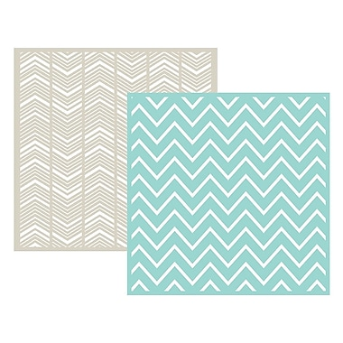 We R Memory Keepers LEF6-3715 Goosebumpz Green Chevron Embossing Folders, 6