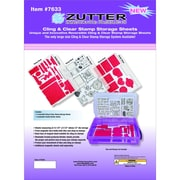 "Zutter™ 12 1/4"" x 8 1/2"" Cling & Clear Stamp Refill Sheet"