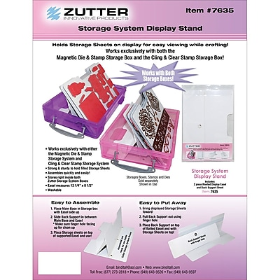 Zutter™ Magnetic Die & Stamp Storage With Easel Holder Display Stand