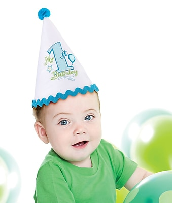 Lillian Rose™ First Birthday Party Hat, Blue
