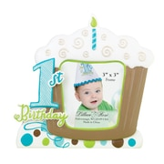 """Lillian Rose™ Baby Collection 5 3/4"""" 1st Birthday Cupcake Frame, Blue"""