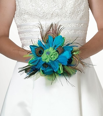 Lillian Rose Peacock Feather Bouquet 1173702
