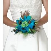 Lillian Rose™ Peacock Feather Bouquet