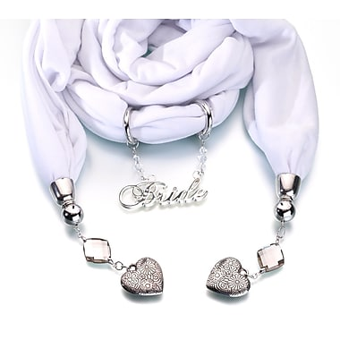 Lillian Rose™ Bride Scarf With Charms, White