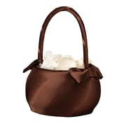 Lillian Rose™® Flower Girl Basket, Chocolate Brown