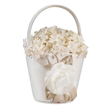 Lillian Rose™ Rose Flower Girl Basket, Taupe