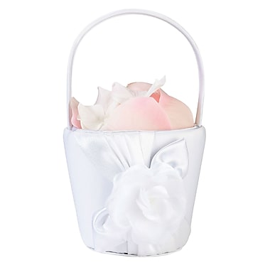 Lillian Rose™ Rose Flower Girl Basket, White