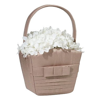 Lillian Rose™ Pleated Flower Basket, Taupe