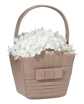 Lillian Rose™ Pleated Flower Basket, Taupe