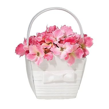 Lillian Rose™ Pleated Flower Basket, White