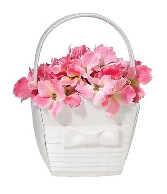 Lillian Rose™ Pleated Flower Basket, White
