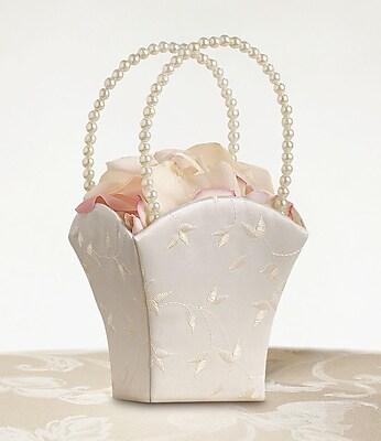 Lillian Rose™ Elegant Satin Flower Girl Basket, Ivory