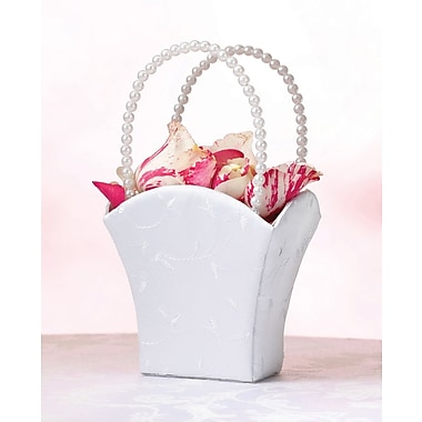Lillian Rose™ Elegant Satin Flower Girl Basket, White