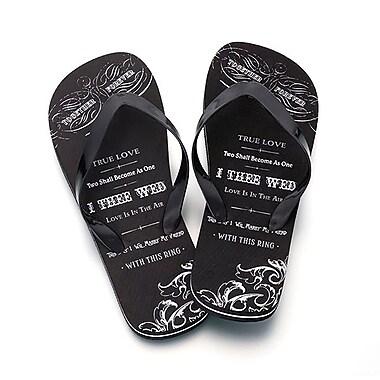 Lillian Rose™ Black True Love Men's Flip-Flops