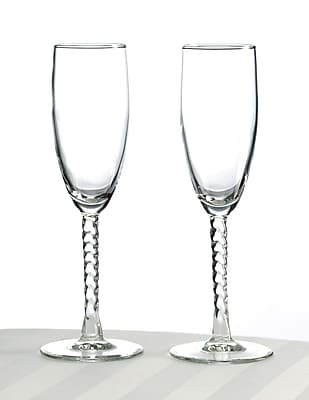 Lillian Rose Toasting Glasses, Clear, 2/Set 1173506