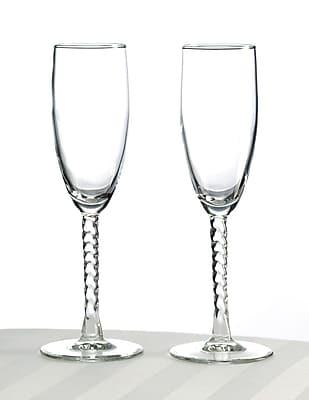Lillian Rose™ Toasting Glasses, Clear, 2/Set