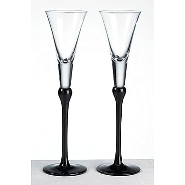Lillian Rose™ Toasting Glasses, Black, 2/Set