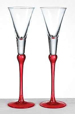 Lillian Rose™ Toasting Glasses, Red, 2/Set