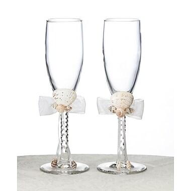 Lillian Rose™ Seashell Toasting Glasses, Ivory, 2/Set