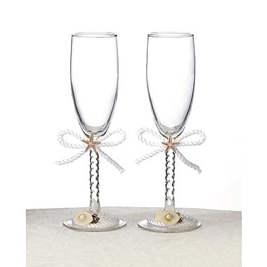 Lillian Rose™ Coastal Mist Toasting Glasses, 2/Set