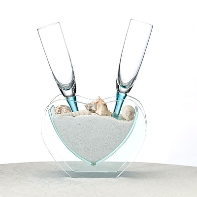 Lillian Rose™ Heart Vase With Toasting Glasses