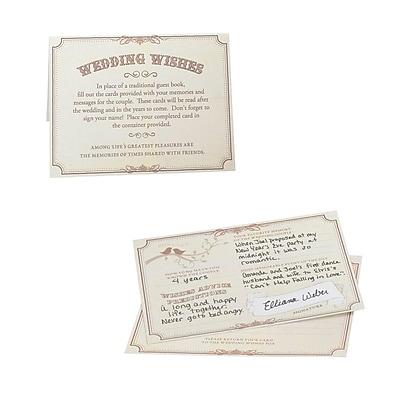 Lillian Rose™ Wishes Card, Tan, 48/Set