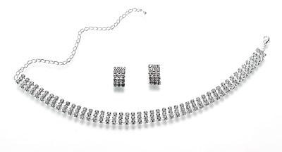 Lillian Rose Rhinestone Band Bridal Jewelry Set