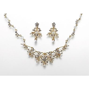 Lillian Rose™ Pearl and Rhinestone Gold Jewelry Set