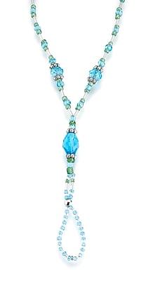 Lillian Rose™ Beaded Foot Jewelry, Aqua, 2/Set