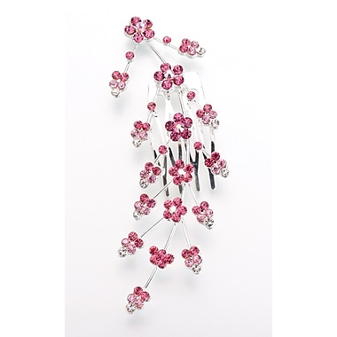 Lillian Rose™ Large Jeweled Hair Comb, Pink