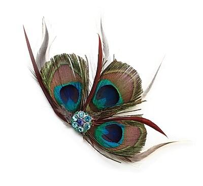 Lillian Rose Peacock Feather Hair Clip 1173530