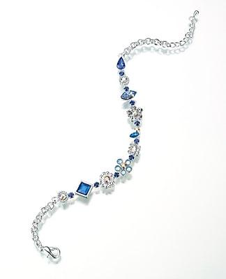 Lillian Rose™ Something Blue Anklet, Silver