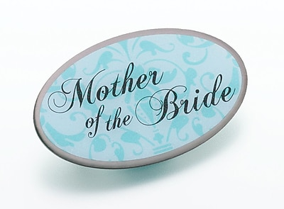 Lillian Rose™ Mother Of The Bride Oval Pin, Aqua